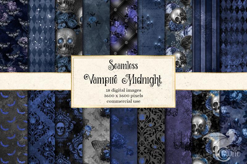 vampire-midnight-digital-paper