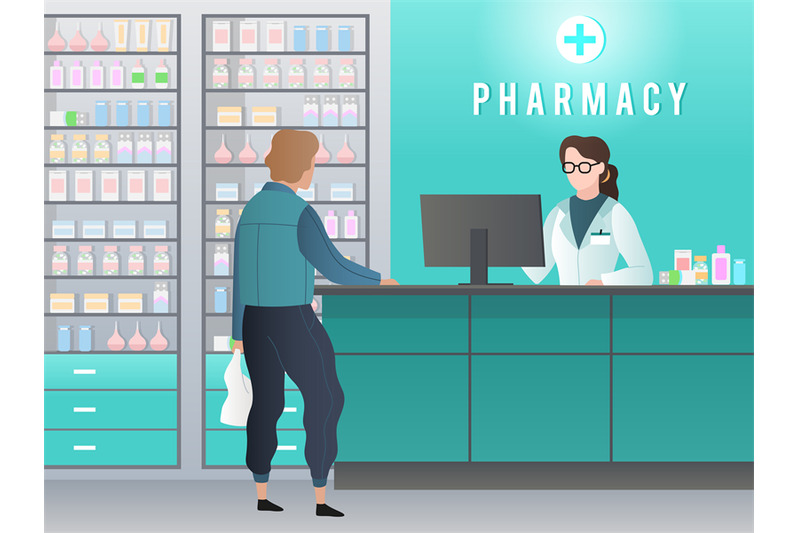 drugstore-pharmacy-with-pharmacist-customer-with-prescription-buys-m