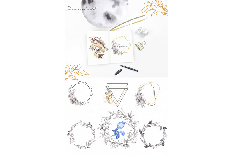 zodiac-watercolor-element