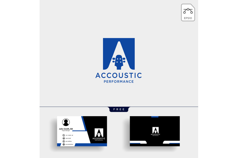 guitar-acoustic-logo-template