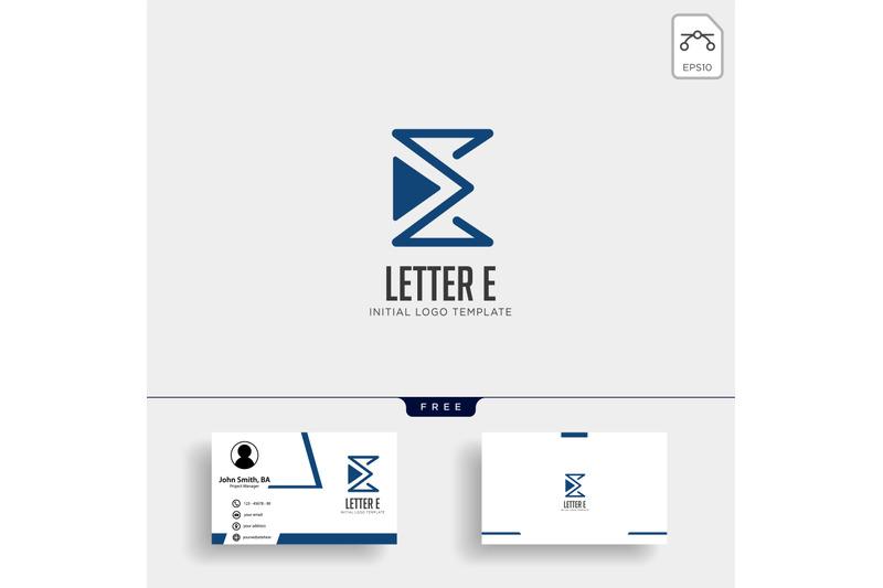 letter-e-monoline-creative-logo-template