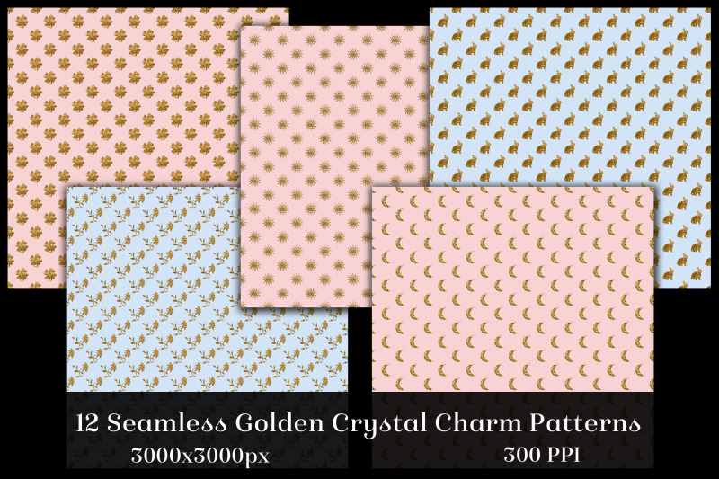 seamless-golden-crystal-charm-patterns-12-images