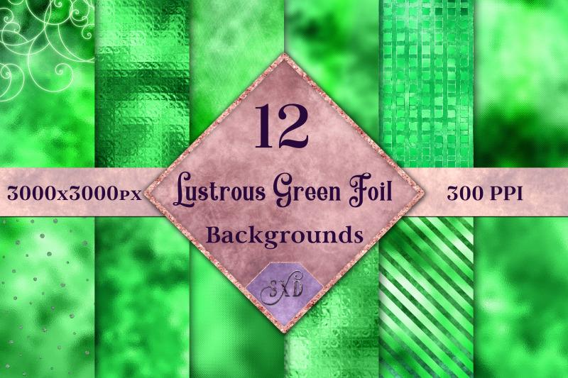 lustrous-green-foil-backgrounds-12-image-textures-set