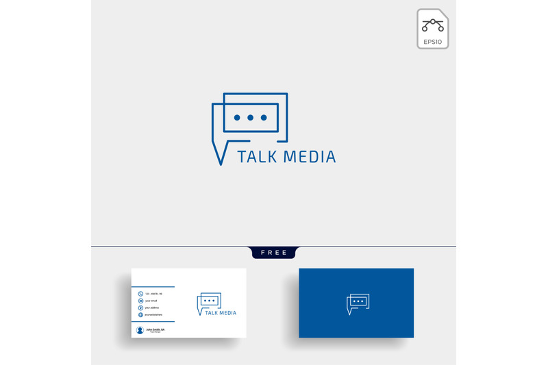 chat-message-speech-conversation-logo-template