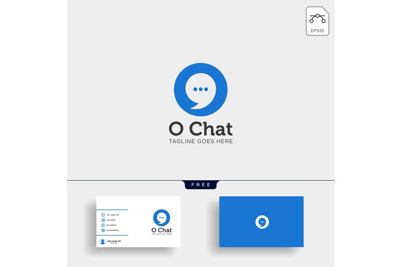 chat-message-speech-conversation-logo-template