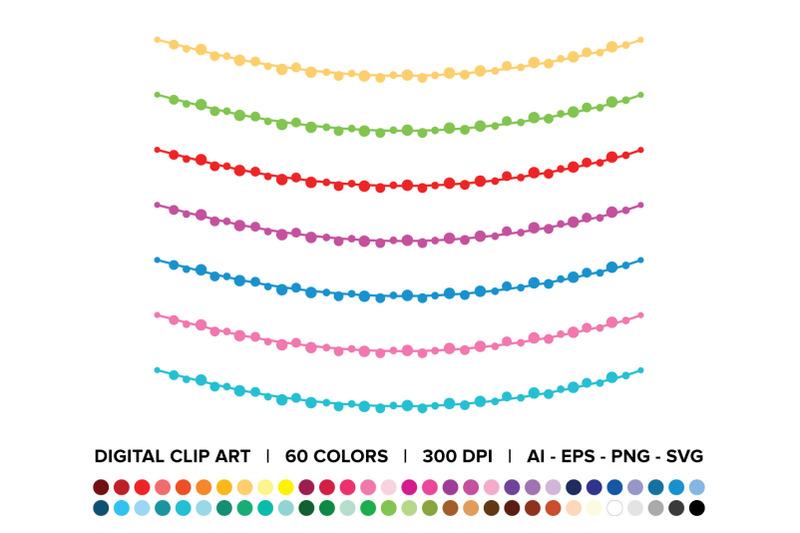 ball-garland-clip-art-set