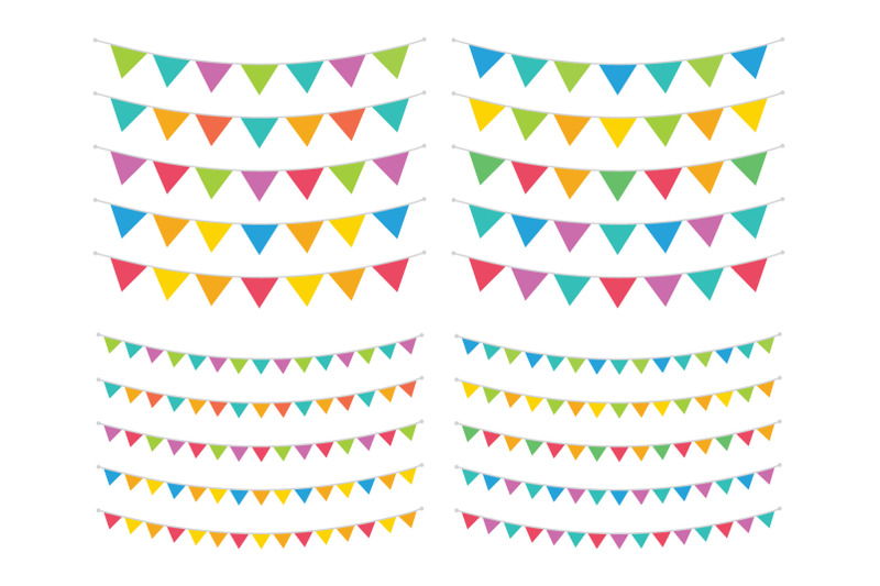 carnival-triangle-banner-set