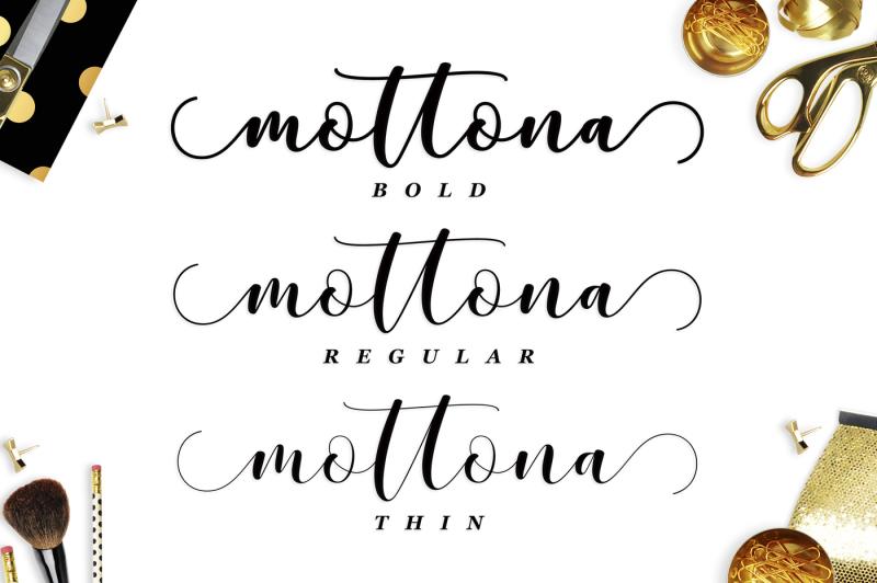 mottona-script-regular-thin-bold