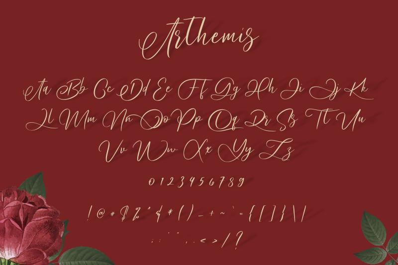arthemis-script-logo-font