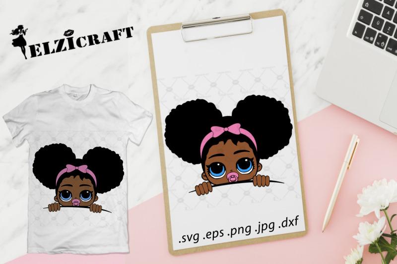 afro-baby-girl-peeking-svg-cut-file