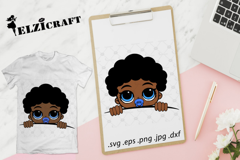 afro-baby-boy-peeking-svg-cut-file