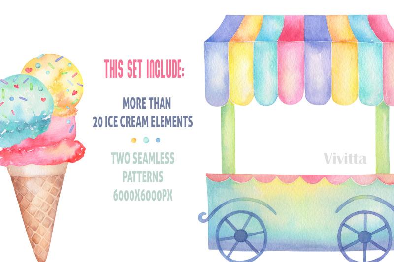 ice-cream-watercolor-collection-clip-art