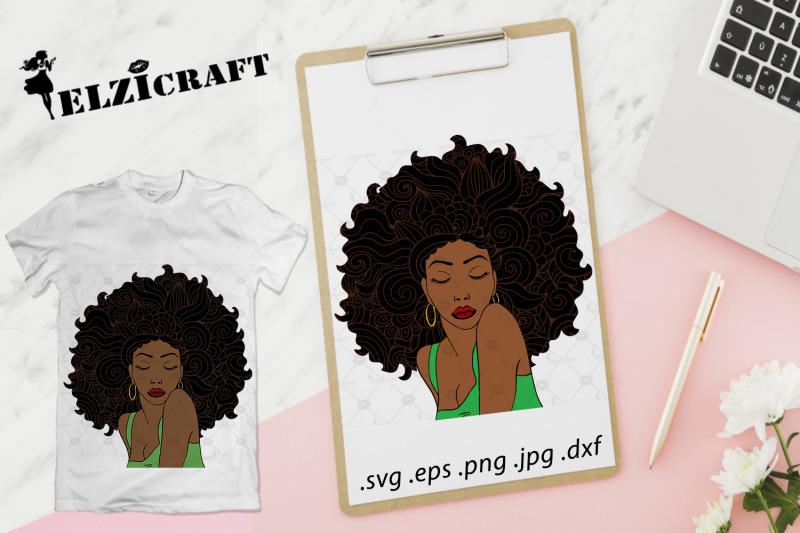 afro-woman-zentangle-hair-svg-cut-file