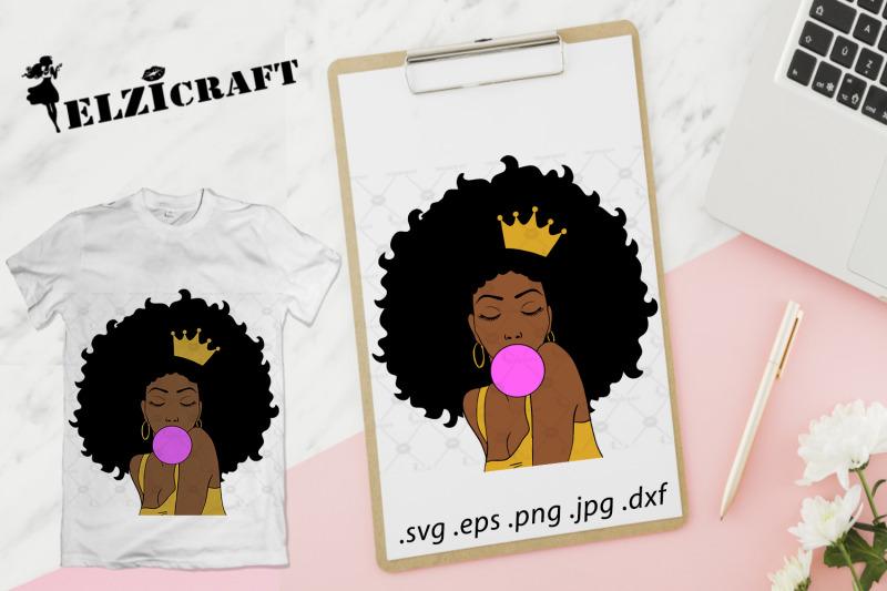 afro-woman-melanin-poppin-svg-cut-file