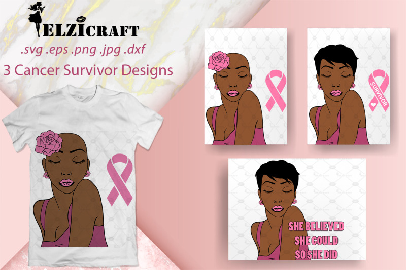 3-cancer-survivor-designs-afro-woman-svg-cut-files