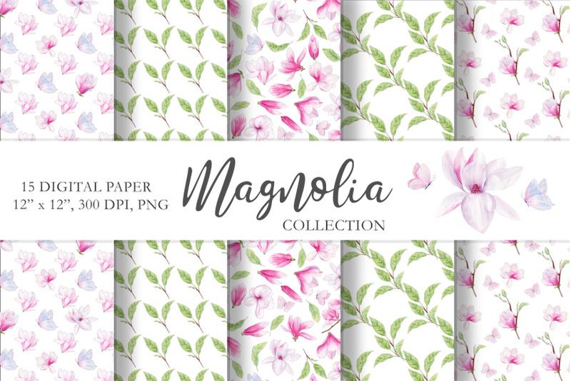 magnolia-floral-watercolor-clipart