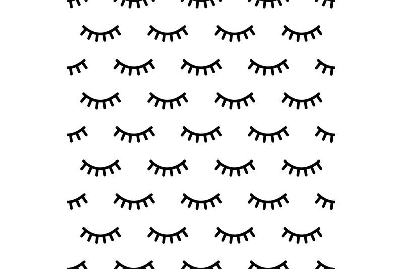 cartoon-eyelashes-pattern-doodle-female-makeup-background-simple-min