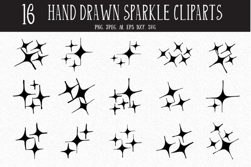 10-hand-drawn-sparkle-cliparts