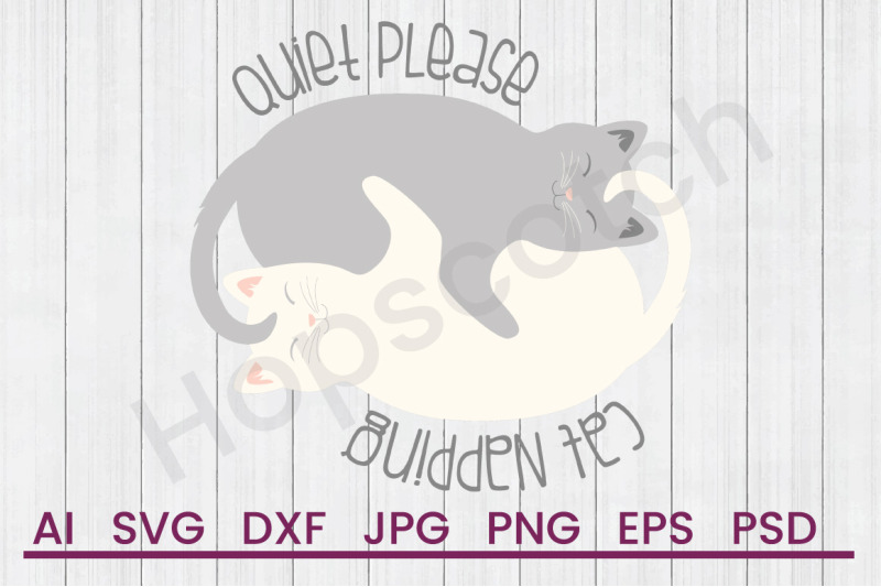 cat-napping-svg-file-dxf-file