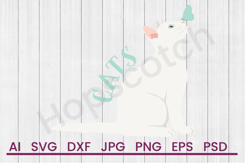 white-cats-svg-file-dxf-file