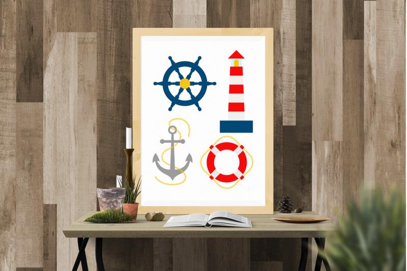 nautical-lighthouse-life-preserver-ship-anchor-set-svg-png-dxf