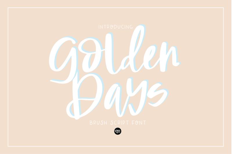 golden-days-brush-script-otf-font