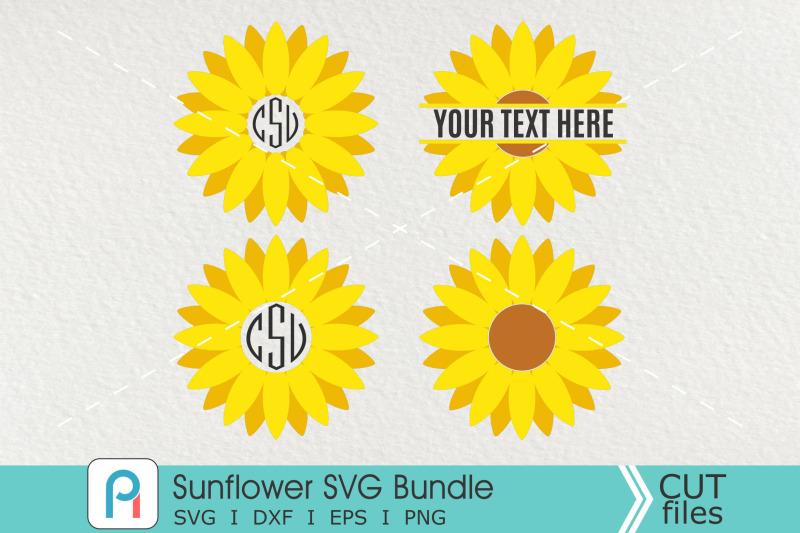 Sunflower Monogram Svg, Sunflower Svg, Sunflower Clipart ...