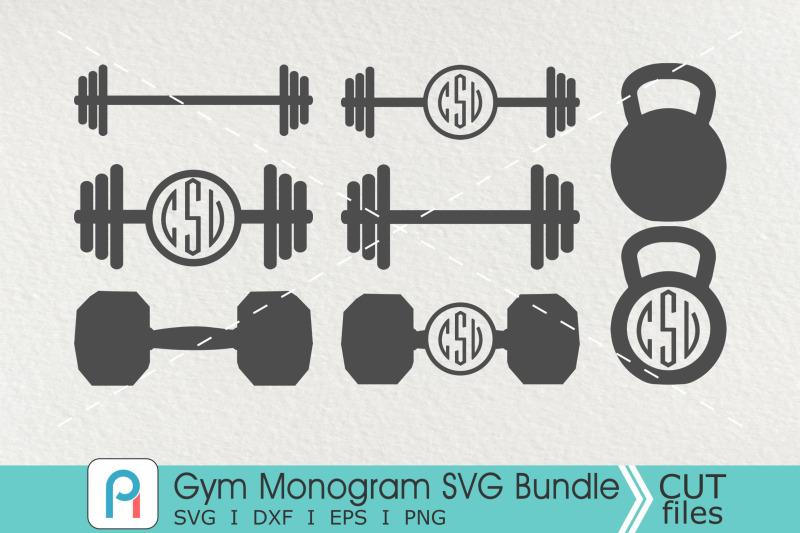 gym-monogram-svg-gym-svg-gym-clipart-barbell-svg