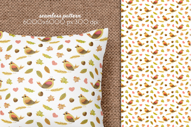 watercolor-autumn-seamless-patterns-collection