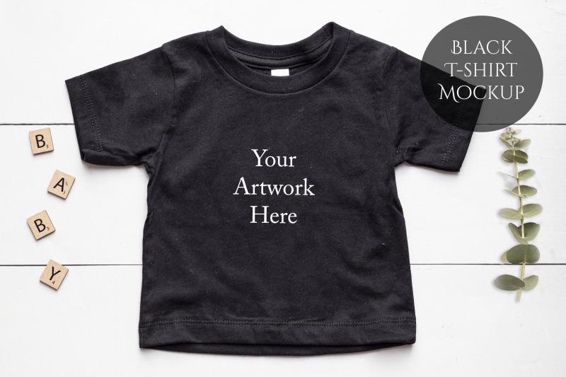 baby-t-shirt-in-black-mockup