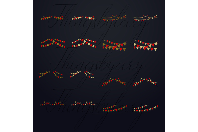 34-red-and-gold-glitter-party-garland-overlay-digital-images