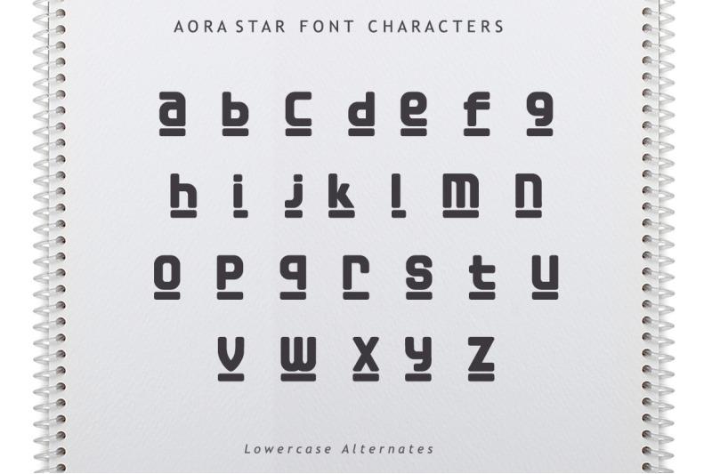 aora-star-font