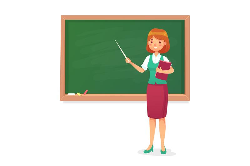 chalkboard-and-teacher-female-professor-teach-at-blackboard-lessons