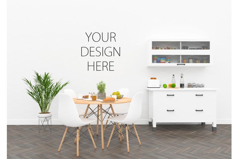 Free Kitchen interior mockup - artwork background (PSD Mockups)