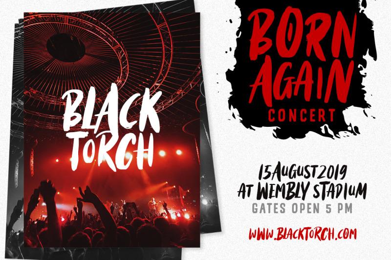 black-torch-dry-brush-font