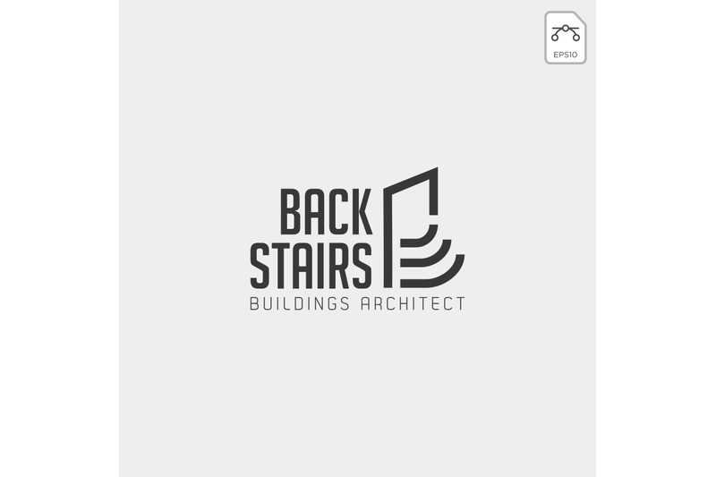 stairs-architect-logo-vector-template