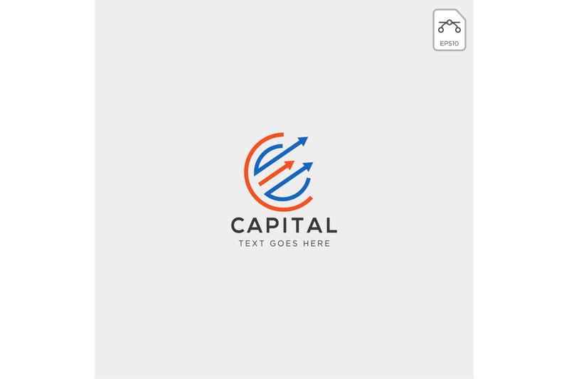 charts-finance-logo-template-vector