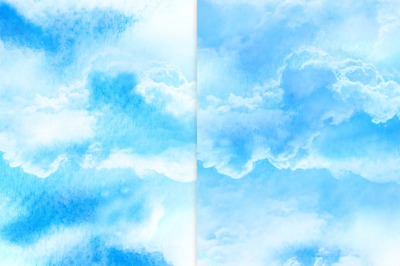 sky-and-cloud-water-color-background