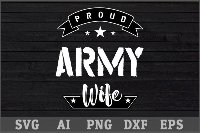proud-army-wife-svg-design