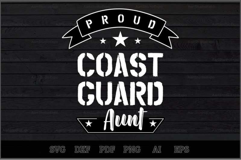 proud-coast-guard-aunt-svg-design