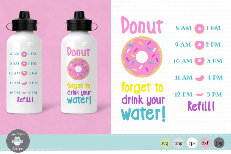donut-forget-to-drink-your-water-svg