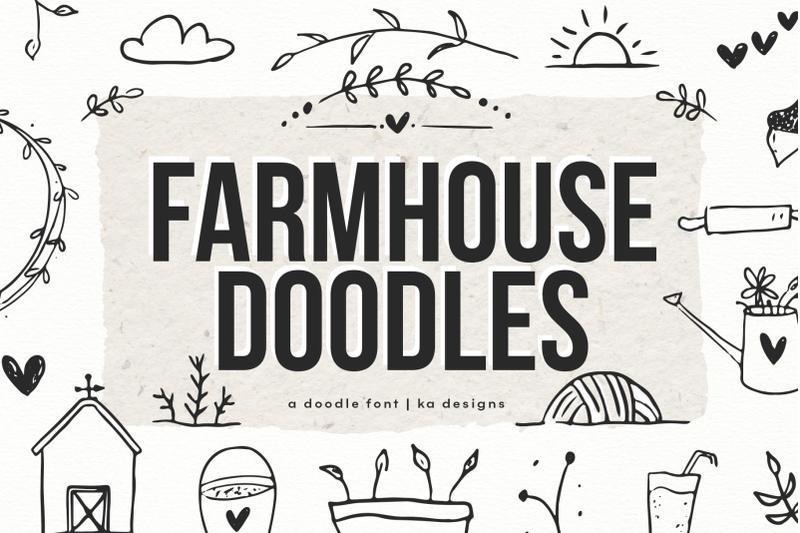 farmhouse-doodles-dingbat-font