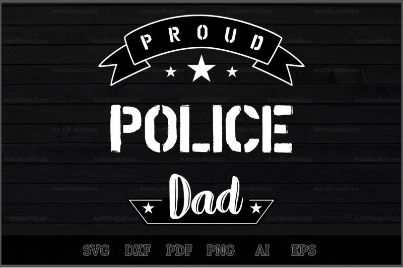 proud-police-dad-svg-design