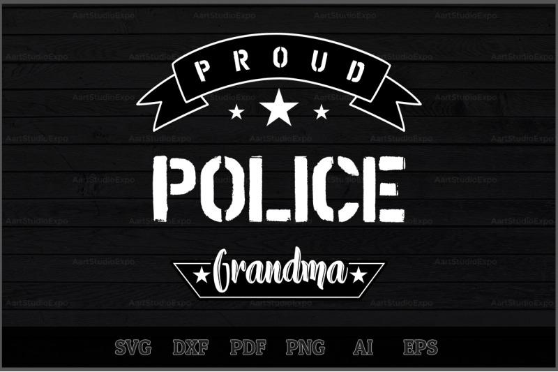 proud-police-grandma-svg-design
