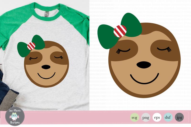 girl-christmas-sloth-svg-christmas-clipart-christmas-svg