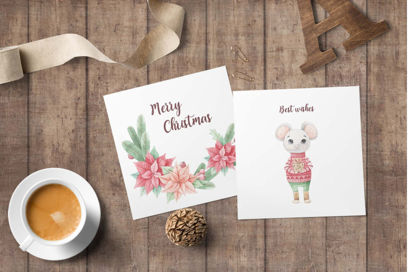watercolor-christmas-mouse-set