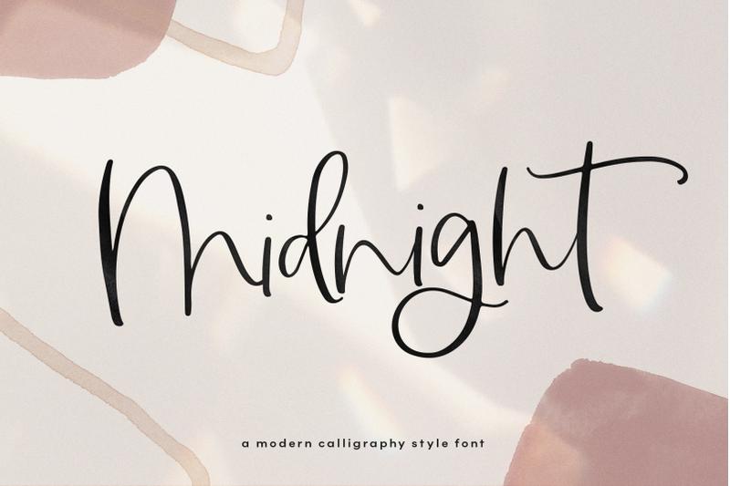 midnight-a-handwritten-script-font