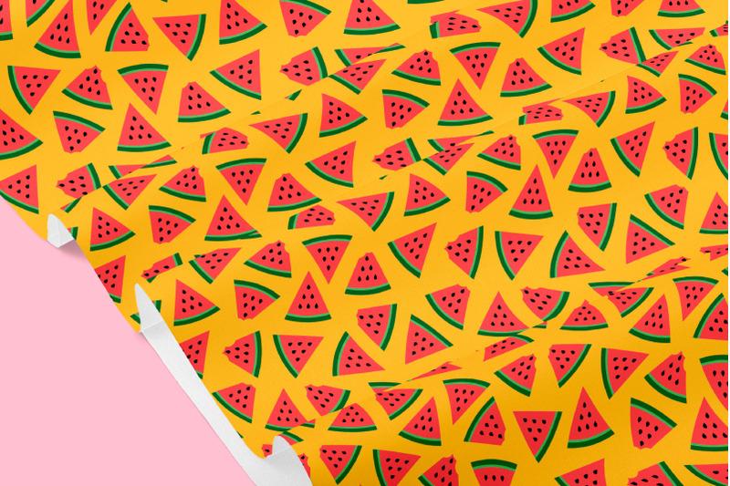 watermelon-seamless-patterns