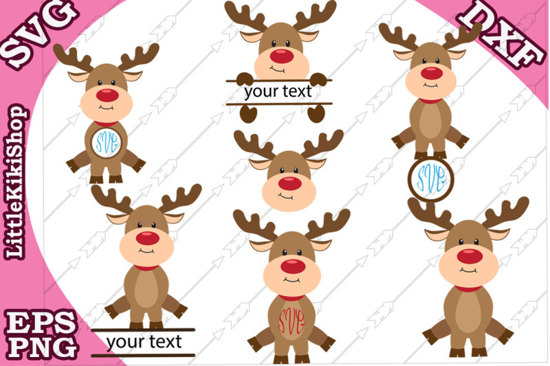reindeer-monogram-svg-cute-reindeer-clipart-christmas-svg