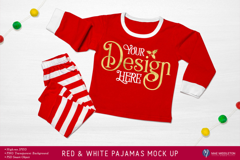 Free Pajamas Mock up for Christmas (PSD Mockups)